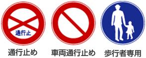 標識による通行禁止